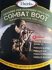 1 Pair THORLO MCB13 motorcycle / Military Combat Boot Socks Black Sz L Large