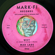 HEAR Mad Lads 45 Why / Hey Man MARK-FI 1934 doo wop R&B lowrider oldies soul