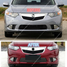 Stainless Front Bumper Lower Grille Trim o Grill For Honda Acura TSX 2011-2014