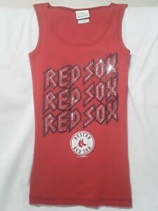 5th & Ocean Women's Boston Red Sox Tank Top NWT Bling