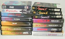 Samurai movies, collection of 30 Vhs