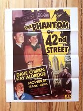 Phantom of 42nd Street - Vintage Movie poster (new reprint) Dave O'Brien Kay Ald