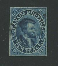 Canada 1855 Jacques Cartier 10d blue #7 VF used