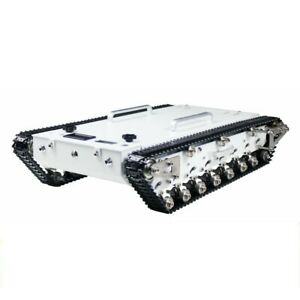 WT600S Assembled Robot Tank Chassis Metal Tracked Tank Car RC Vehicle+Remote xr