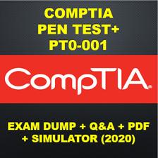 CompTIA PenTest+ PT0-001 Exam PDF QA & SIMs (2020)