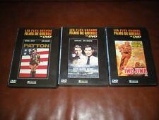 LOT 3 DVD GRANDS FILMS DE GUERRE PATTON + ODYSSEE SOUS MARIN NERKA + IWO JIMA