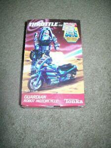 "VINTAGE  1985  TONKA   SUPER  GOBOTS  ""  THROTTLE  - BLUE   ""   MIB  BRAND  NEW"