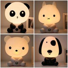 Lindo Animal LED Amarillo Sensor Luz Lámpara Mesilla Enchufe Noche Lluminación