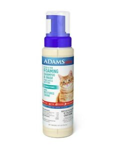 Adams Plus Flea & Tick Foaming Shampoo for Cats Fresh Scent 10oz   Free Shipping