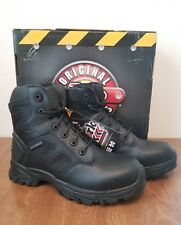 Justin Original Workboots Men's Sabre WK110 Black Action Leather 8W Brand New