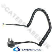 HENNY PENNY CHICKEN FRYER 230V BLACK CURLY POWER MAINS CABLE LEAD UK 3 PIN PLUG