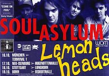 TOUR POSTER~Soul Asylum W/Lemonheads Purple 1992 Grave Dancers Union German~NOS