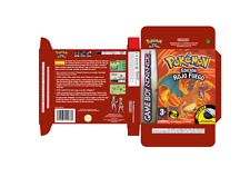 POKEMON ROJO FUEGO (ESPAÑOL) (ADVANCE) (CAJA + INTERIOR) (ONLY BOX)