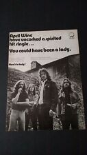 "APRIL WINE ""YOU COULD HAVE BEEN A LADY"" 1972 RARE ORIGINAL PRINT PROMO POSTER AD"