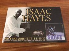RARE ISAAC HAYES Promo Postcard/Mini-Poster BB King Arrested Development Shaft