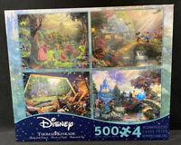 Disney Dreams Kinkade 4 In 1 500 Pc Puzzles Cinderella Mickey Sleeping Beauty