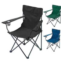 2x Folding Portable Garden Camping Hiking Fishing Festival Chair With Cup Holder