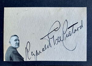 REGINALD GOSS CUSTARD 1877- 1956 ENGLISH COMPOSER / ORGANIST AUTOGRAPH