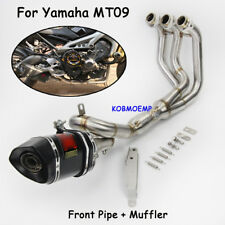 For Yamaha MT09 Full Exhaust System Front Link Pipe Carbon Exhaust Muffler Pipe