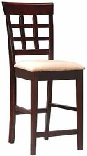 Coaster Contemporary Style Counter Height Stools, Cappuccino Finish, Set of 2""