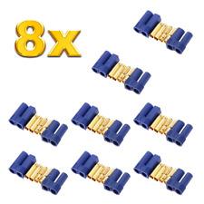 8x Paar 16 Stück EC5 5mm Hochstromstecker Stecker + Buchse Goldstecker bis 120A
