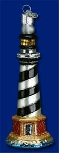 CAPE HATTERAS LIGHTHOUSE OLD WORLD CHRISTMAS GLASS NAUTICAL ORNAMENT NWT 20017