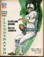 1965 Dallas Cowboys v Cleveland Browns Program 10/17 Cleveland Stadium Ex 40759