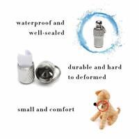 2Pcs Anti-Lost Pet Dog Cat Puppy ID Address Name Label Tag Barrel Tube Collar JT
