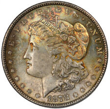 1878 8TF Morgan Silver Dollar Toned $1 BU Uncirculated