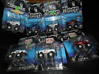 7 LOT MONSTER TRUCK MUSCLE MACHINES JEEP MOTORIZED HI REV MOTOR AMERICAN FLAGS