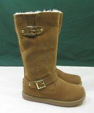 US WOMEN  Size 8      NEW TBROWN  Winter Sexy Mid-Calf Boot Inside Fur