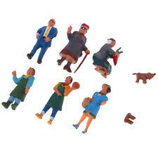 Market Seller Passenger Character Miniature Package (6) HO ABS Model Figures