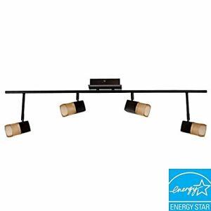 Hampton Bay Vega 3.6 ft. 4-Light Oil-Rubbed Bronze LED Track Lighting / 611