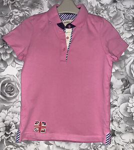Girls Age 7-8 Years - Harry Hall Equestrian Summer Polo Top - Excellent Con