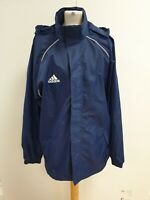 N811 MENS ADIDAS NAVY BLUE CASUAL HOODED SPORTS JACKET UK M EU 50