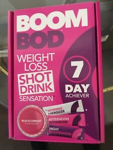 Boombod  Weight Loss Shot Drink Black Currant Flavor! 21 Sachets,SEALED. 1 Box!
