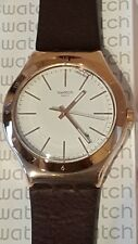 Swatch Irony Tic-Brown Gold/Leather Strap