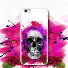 Rose Skull Pattern Printing TPU Anti-skid Phone Case for iPhone Samsung Huawei