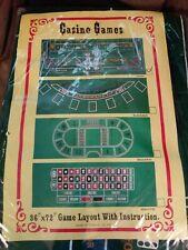 "72"" x 36"" Casino Roulette Wheel Felt Layout Game for Home Table Blackjack"