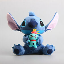 "New 10"" Lilo & Stitch Soft Toy Blue Stitch Plush Doll Stuffed Teddy Kid Gift UK"
