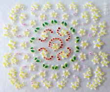 Accessoire ongles: nail art - Stickers autocollants - fleurs multicolores