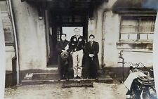 WWII Photo US Officer With 2 Japanese Officers After Surrender 5x7 Motorcycle