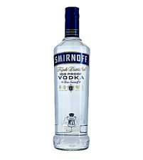 Smirnoff Blue Label 100 Proof Vodka 50% 1L FAST DELIVERY & FREE SHIPPING