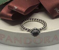 Authentic Retired Pandora Amethyst Purple Birthstone Ring 52 Sz. 6 Retail $50