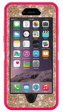"Otterbox Defender Customized Glitter Case for 4.7"" iPhone 6 Pink/Gold Cute"