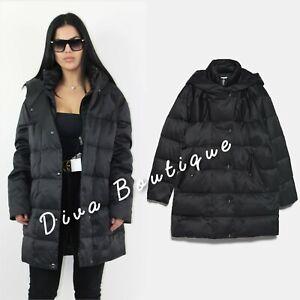 Zara AW 2019/20 Water Repellant Black Down Puffer Coat Size S Brand New RRP £99