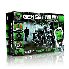 Motorcycle LED 2-Way Alarm System Security Remote Start w/ Motion Detector