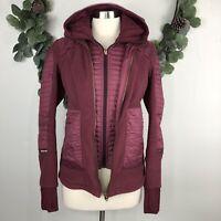 Lululemon Womens Jacket Sz 4 Fleecy Keen III Detachable Hood Windberry Rose Gold