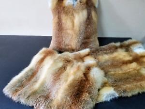 Fur throw, Real fur blanket, Real fur rug, Fur carpet, Real fur, Foxfur, fox fur