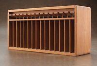 Vintage Kalmar Designs Teak Wood Cassette Holder